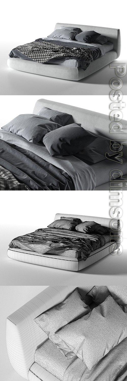 Big Bed 3D model