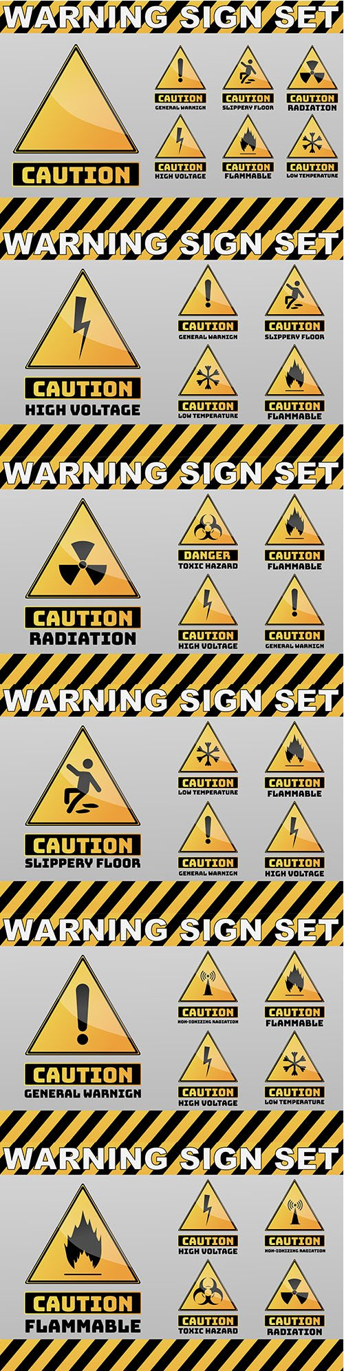Caution Yellow Sign Object