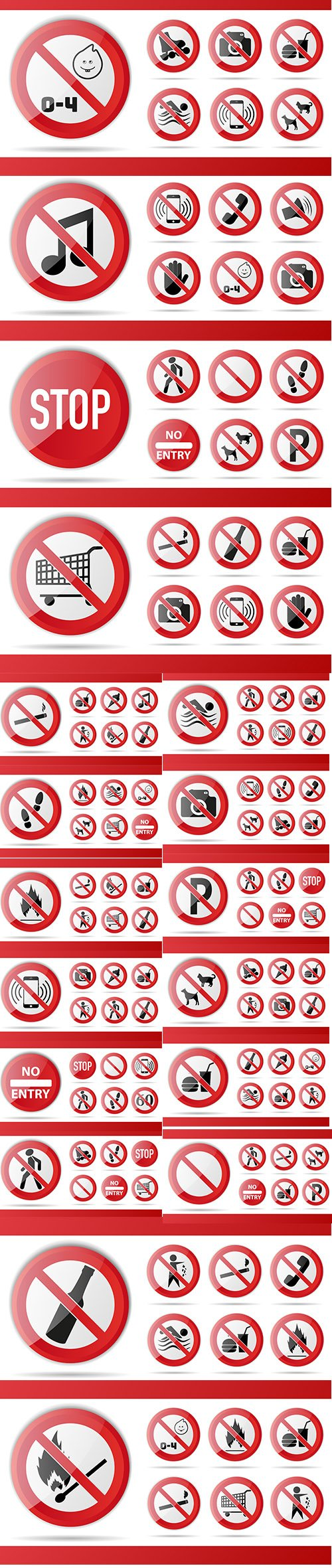 Red Prohibition Sign Object