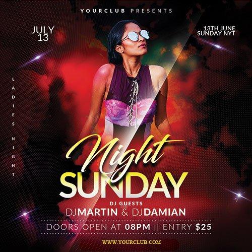 Sunday Night - Premium flyer psd template