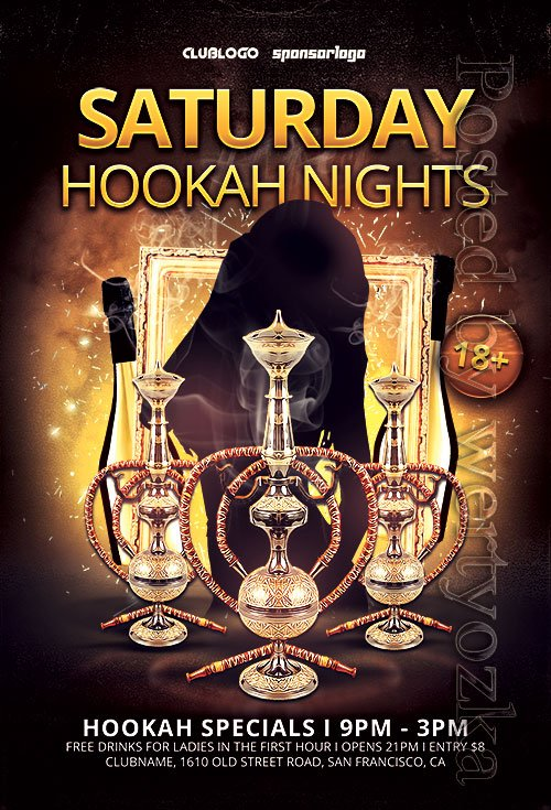 Hookah Nights - Premium flyer psd template