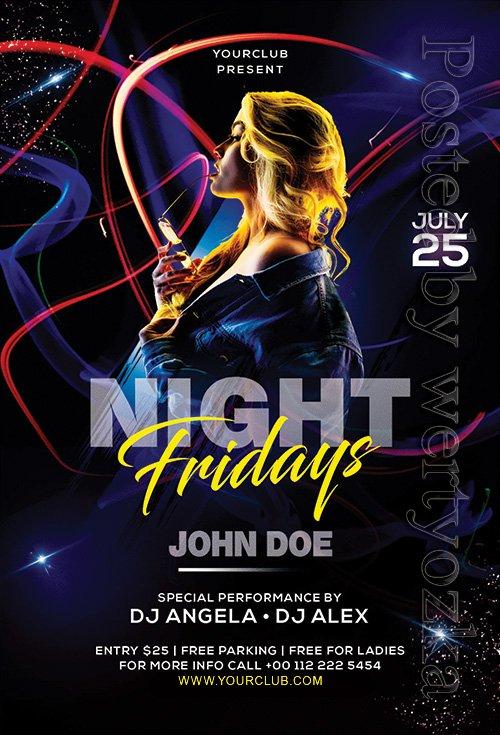 Club Dj Night - Premium flyer psd template