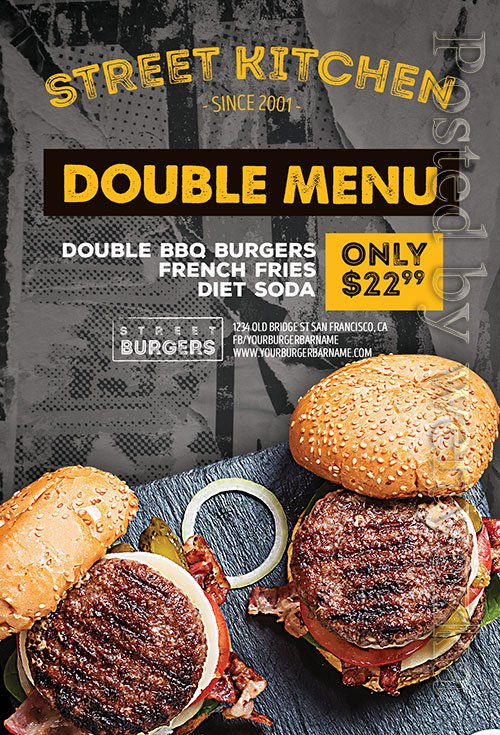 Burger Kitchen - Premium flyer psd template