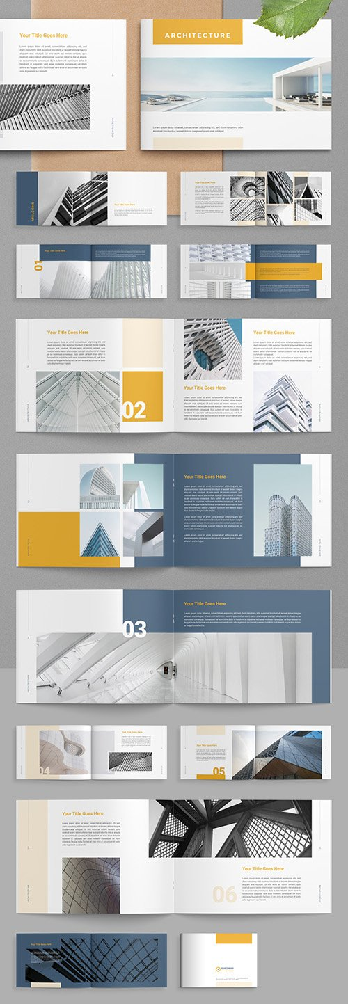 Architecture Layout with Yellow Accents 313866158