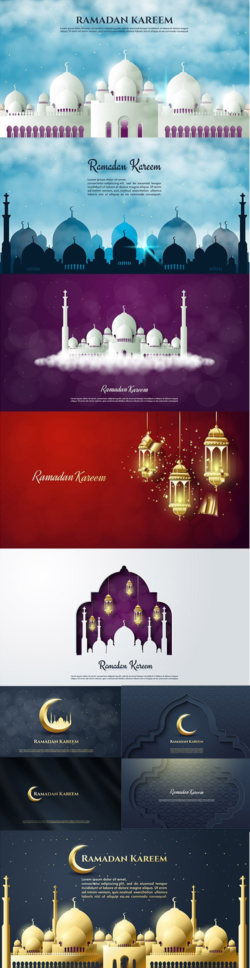 Ramadan Kareem Premium Illustrations Set