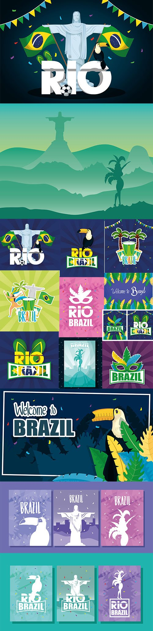 Brazil Carnival Premium Illustrations Set