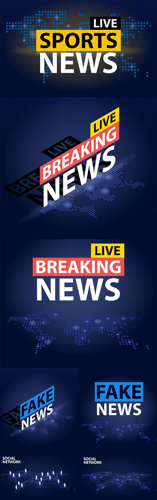 Live Breaking News Background