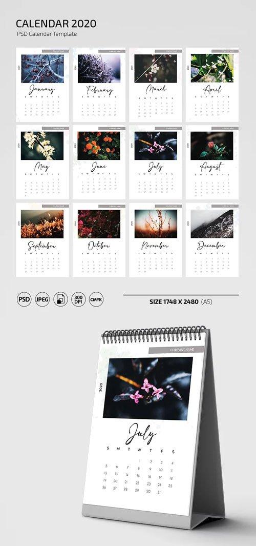 Calendar 2020 - PSD Calendar Template
