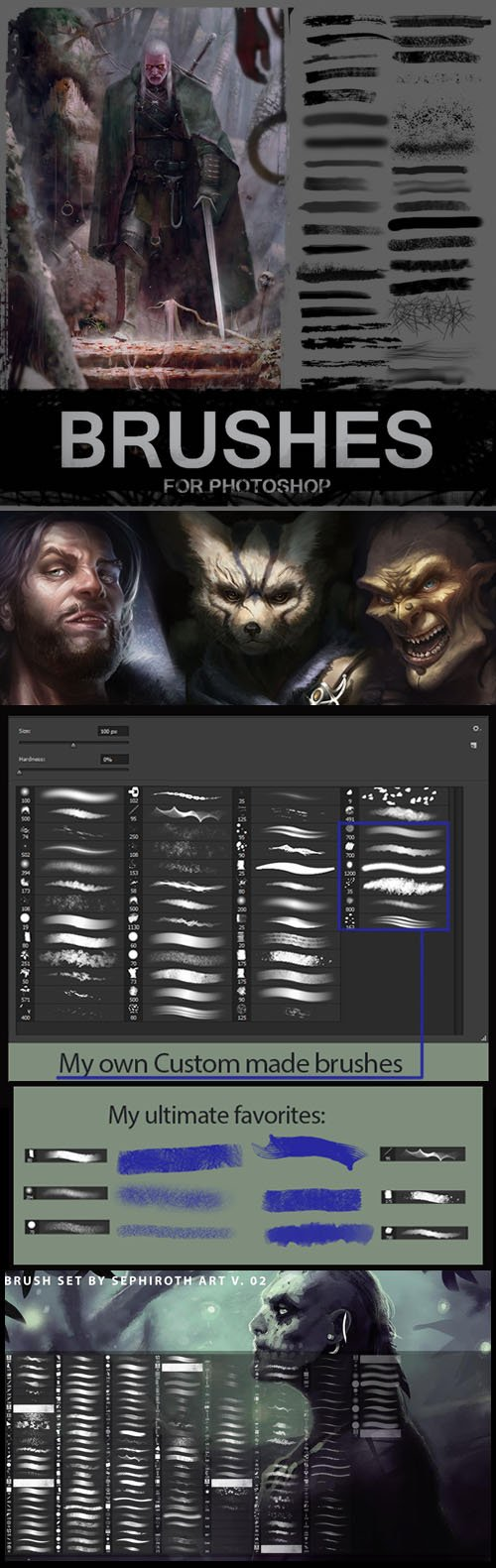 500+ Art Brushes Collection for Photoshop