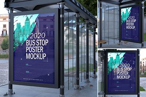 Bus Stop Poster - Mockups FH