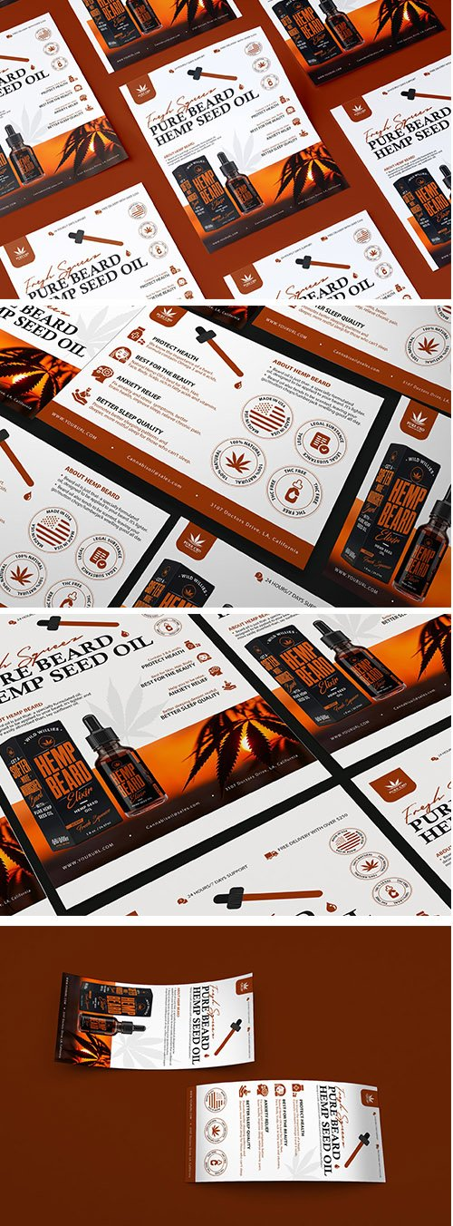 Hemp Product DL Rackcard, Flyer, A5 Flyer and Poster