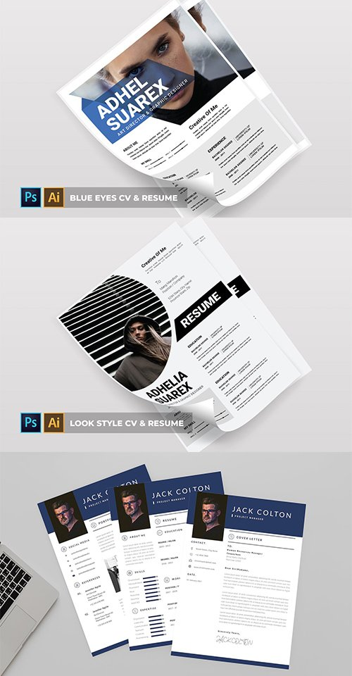 Blue Eyes | Look style | Jack Project  | CV & Resume