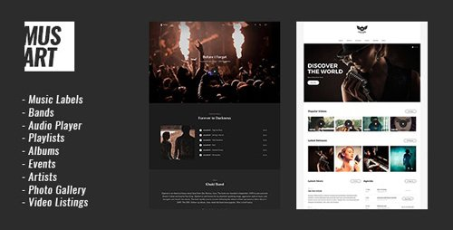 ThemeForest - Musart v1.1.3 - Music Label and Artists WordPress Theme - 20890063