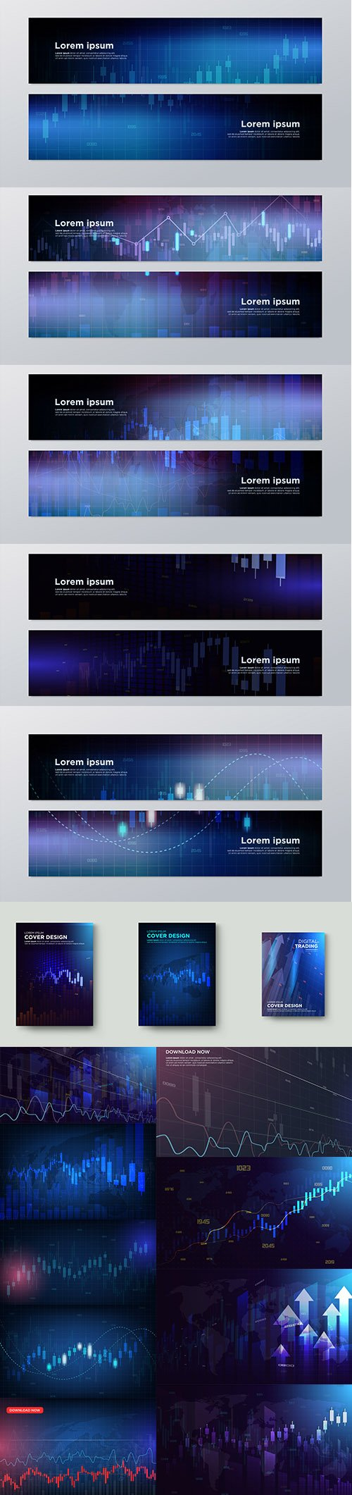 Trading Banners and Backgrounds Premium Set