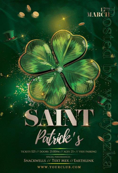 Saint Patricks Day - Premium flyer psd template