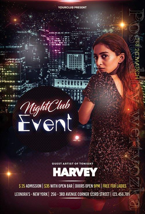 Event Club Night - Premium flyer psd template