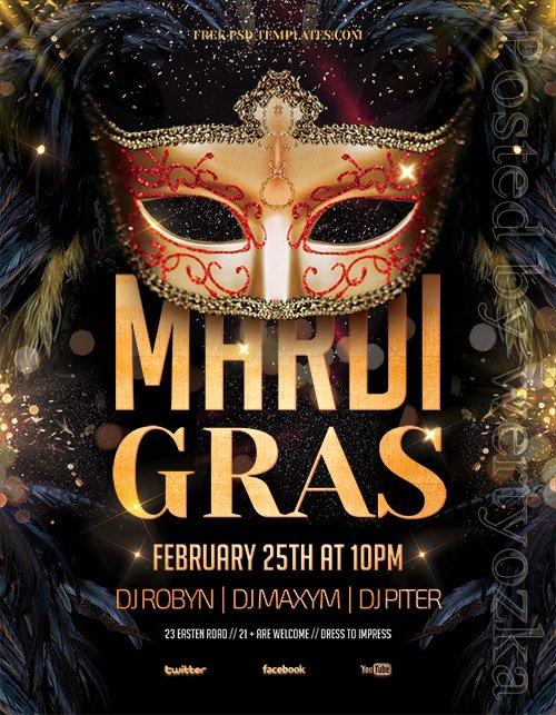 Mardi Gras Party - Premium flyer psd template
