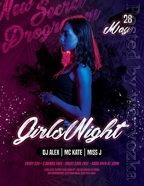 Girls Night - Premium flyer psd template