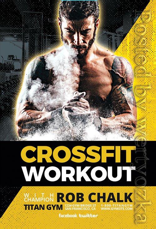 Crossfit Workout - Premium flyer psd template