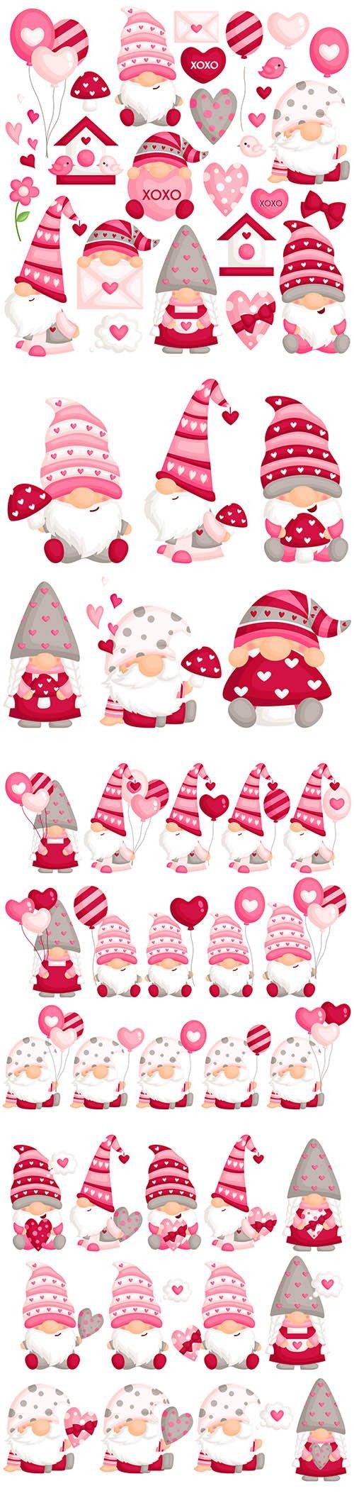 Valentine Gnome Love Set