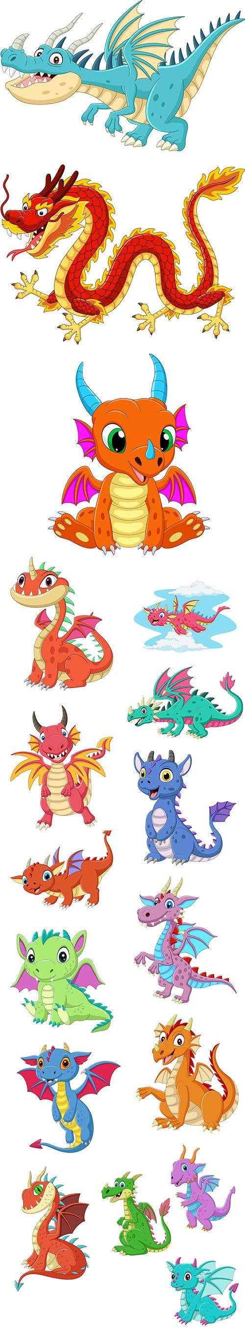 Cartoon Baby Dragon Set