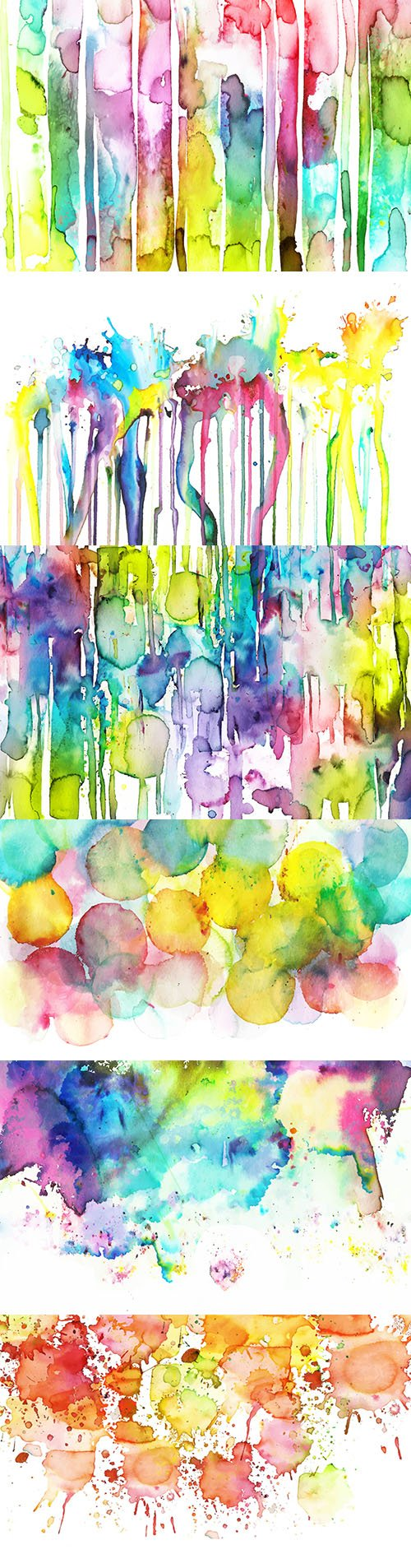 Watercolor splashes bright abstract background