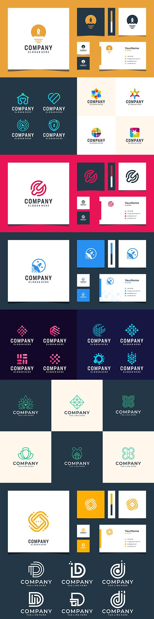 Modern logo and business card design abstract