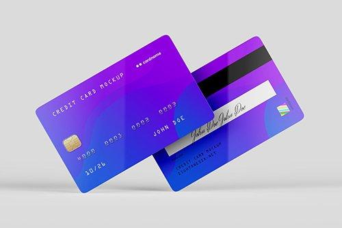 Credit Card Mock-Up Template PSD