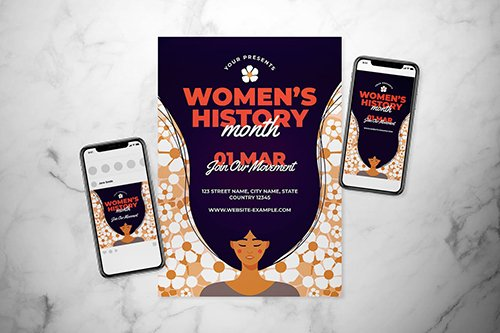 Women's History Month Flyer Set