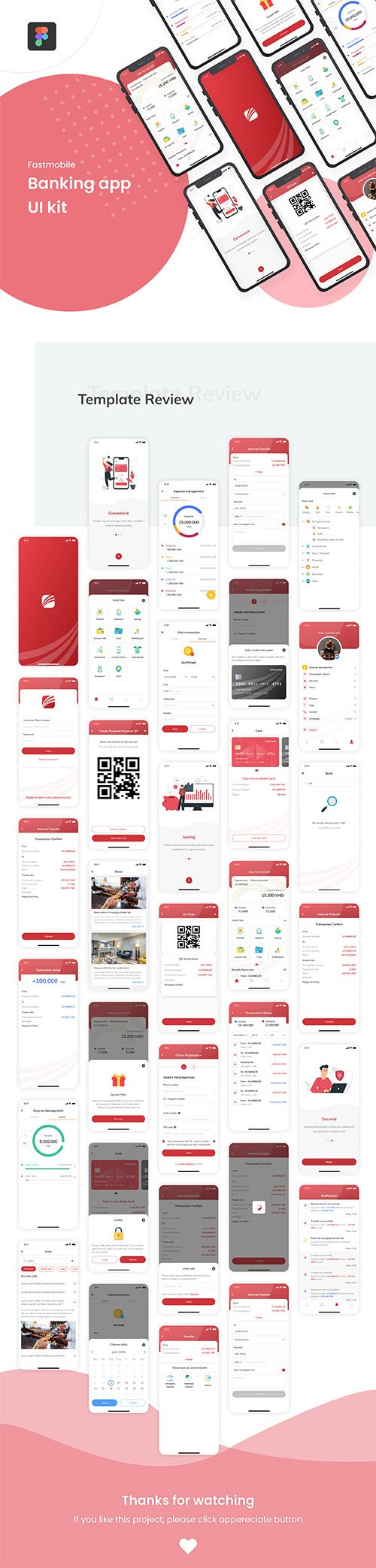 FastMobile - Banking app UI kit