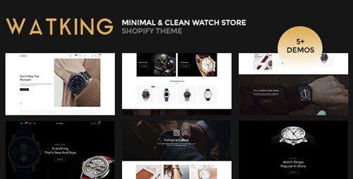 ThemeForest - Watking v1.0.0 - Minimal & Clean Watch Store Shopify Theme - 25635387