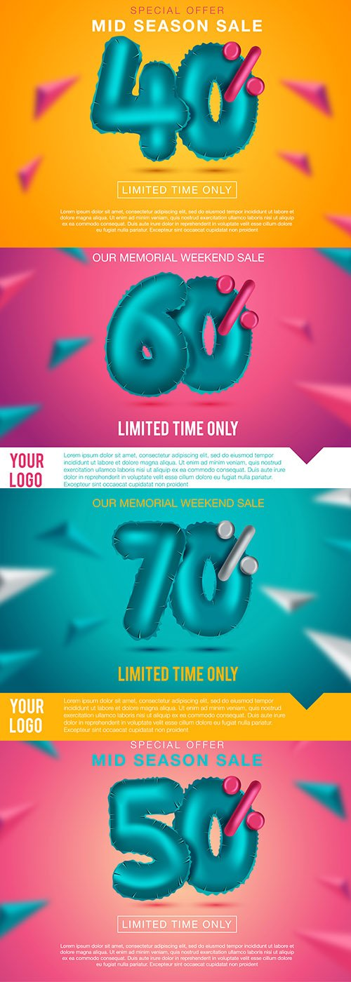 Best Sale Banner Premium Illustrations Set