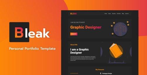 ThemeForest - Bleak v1.0 - Personal Portfolio Template (Update: 18 February 20) - 24150431