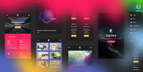 ThemeForest - Colora v1.0 - Colorful Material Design Mobile Template (Update: 18 February 20) - 22305011