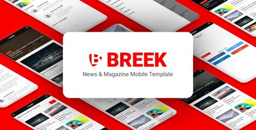 ThemeForest - Breek v1.0 - News Magazine Mobile Template (Update: 18 February 20) - 22314495