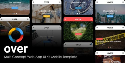 ThemeForest - Over v1.0 - Multi-Concept Web App UI Kit Mobile Template (Update: 18 February 20) - 21184482