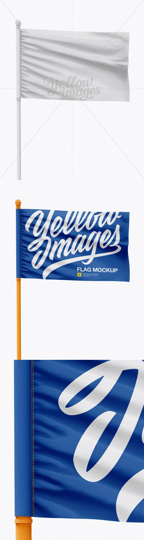 Flag Mockup - Front View 18390 TIF