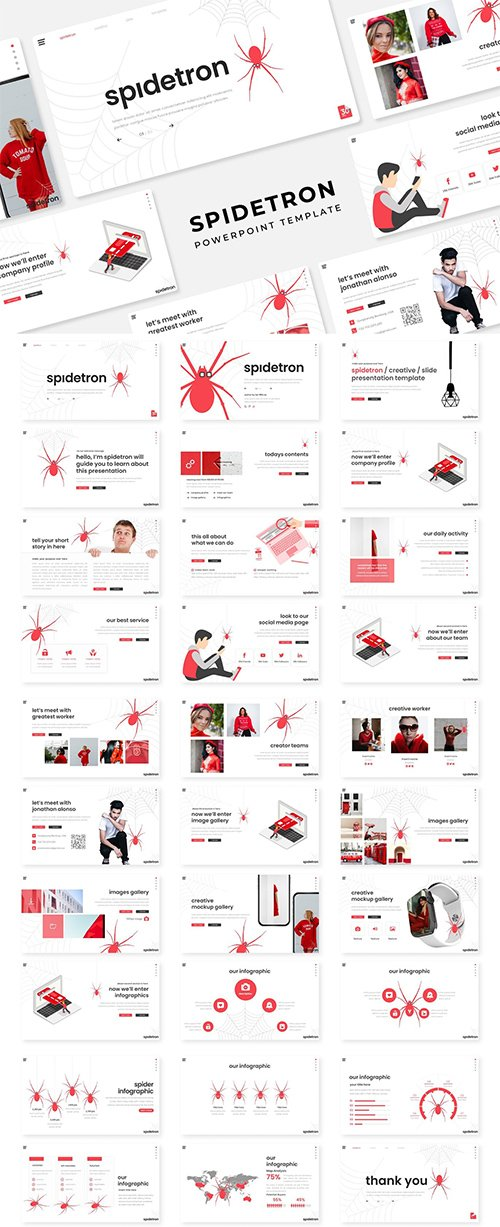 Spidetron - PowerPoint, Keynote and Google Slides Template