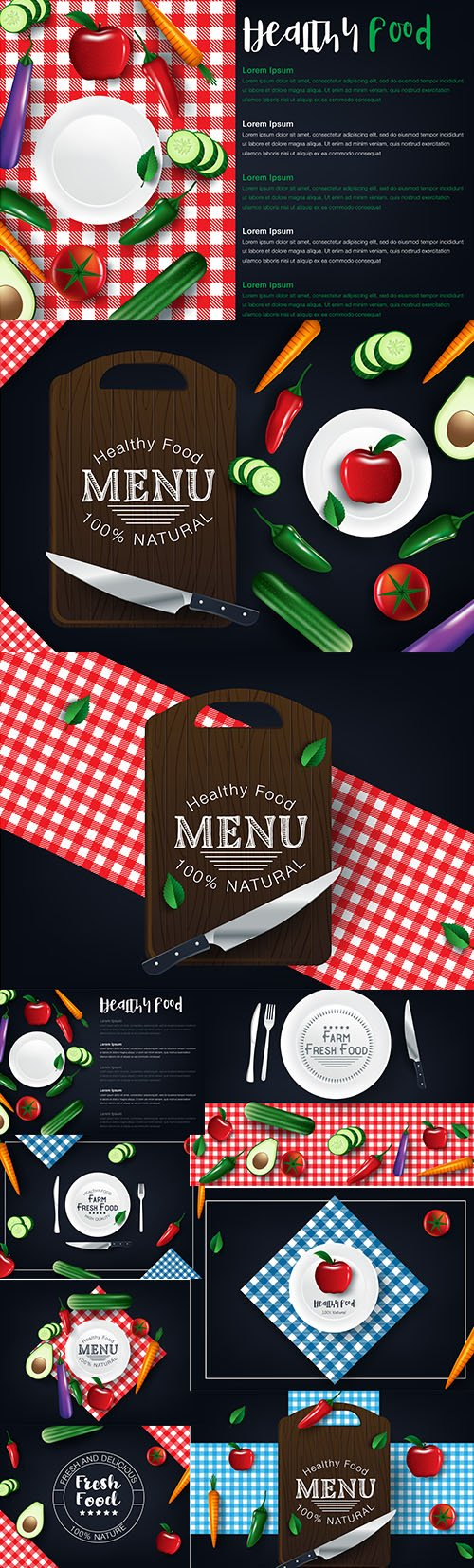 Healthy Vegetables Food Banners