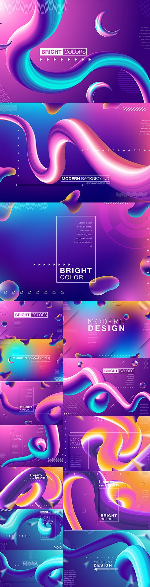 Abstract Gradient Illustrations