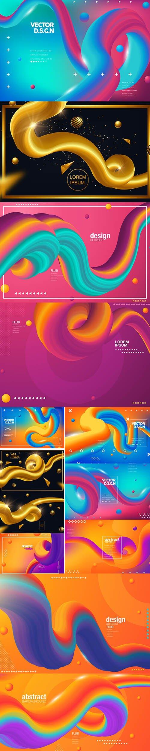 Creative Design 3D Flow Shape Premium Illustrations