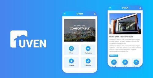 ThemeForest - Uven v1.0 - Real Estate Mobile Template (Update: 18 February 20) - 23021150
