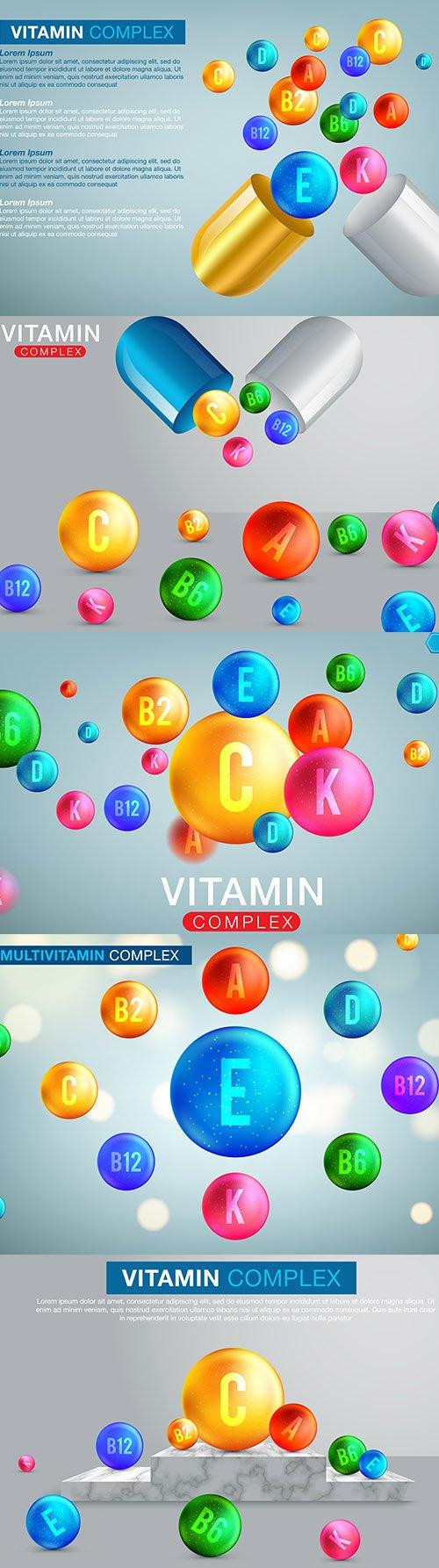 Vitamin Mineral Complex Banner Set