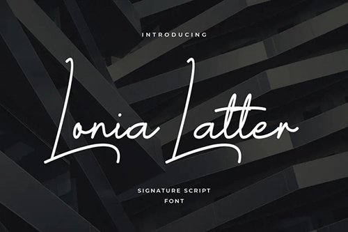 Lonia Letter Font