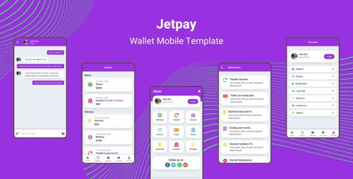 ThemeForest - Jetpay v1.0 - Wallet Mobile Template (Update: 18 February 20) - 25751475