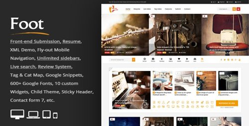 ThemeForest - Foot v3.9 - Grid Front-End Submission Content Sharing - 11063061