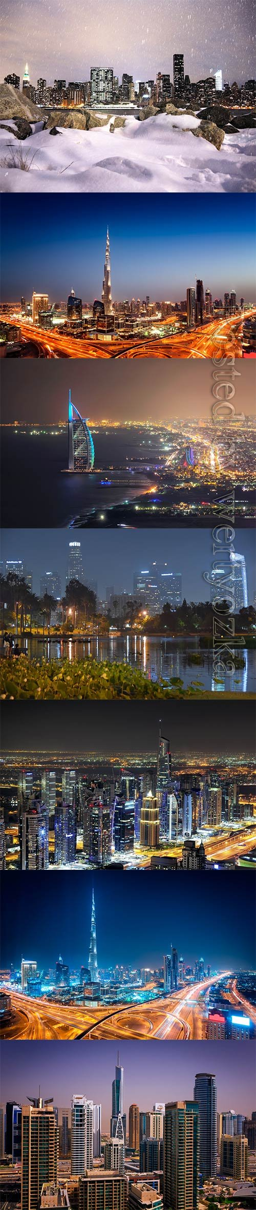 Beautiful backgrounds with night cities