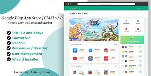 CodeCanyon - Google Play App Store [CMS] v2.0.8 - 20614679