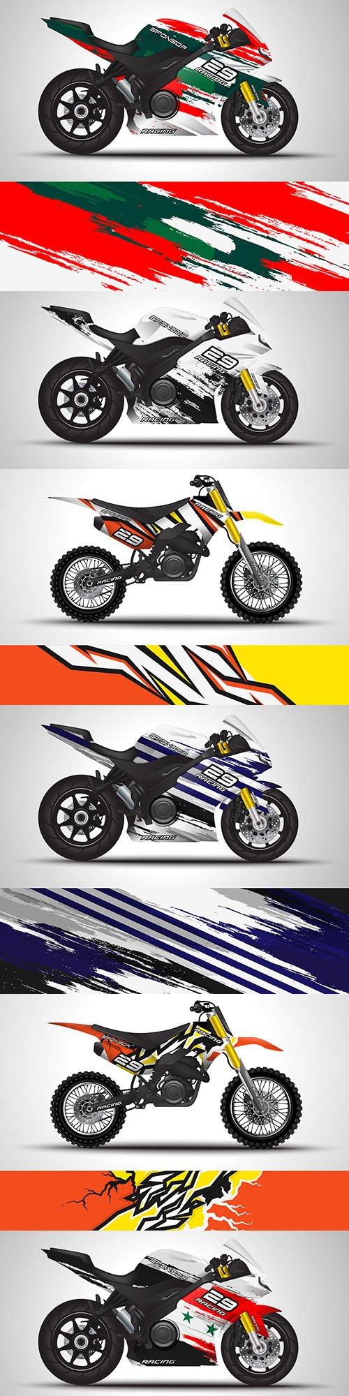 Motorcycle sticker and vinyl sticker design illustration