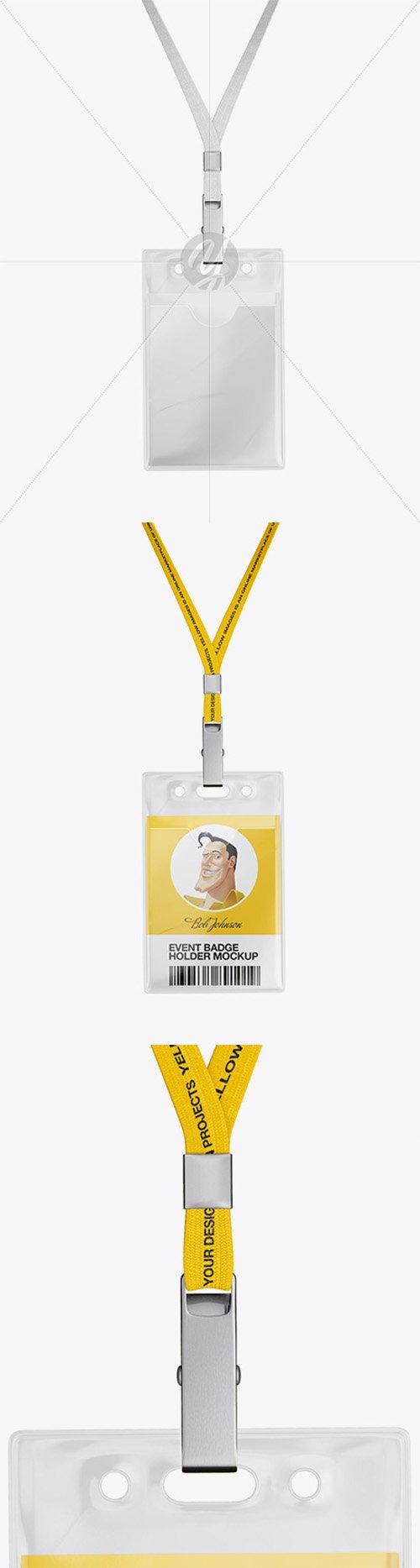 Badge Holder Mockup - Front View 21705 TIF